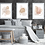 Thumbnail: Set of Three Nude Color Wall Frame