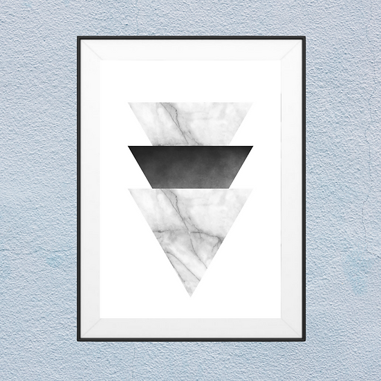 Marble Triangle Framed Wall Art