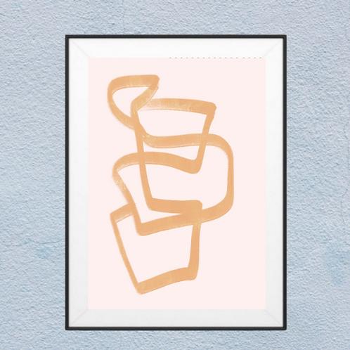 Nude Lines Wall Art - Framed Wall Art