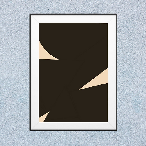 Brown and Beige Abstract-
