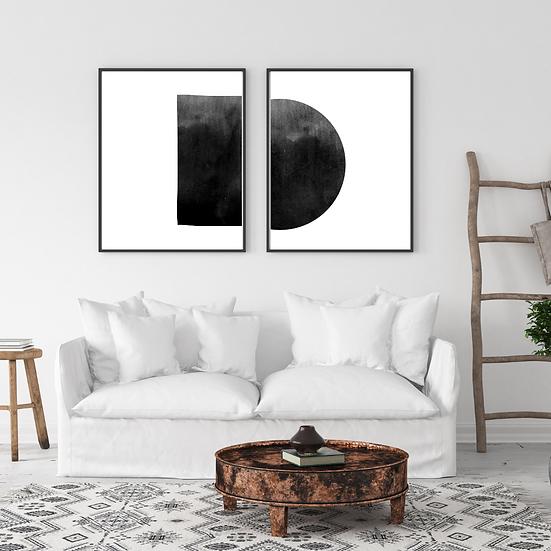 Set of Two Boho Wall Frame