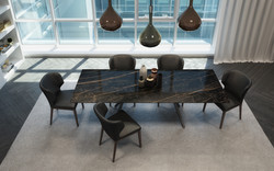 URBY TABLE + TANIA CHAISE