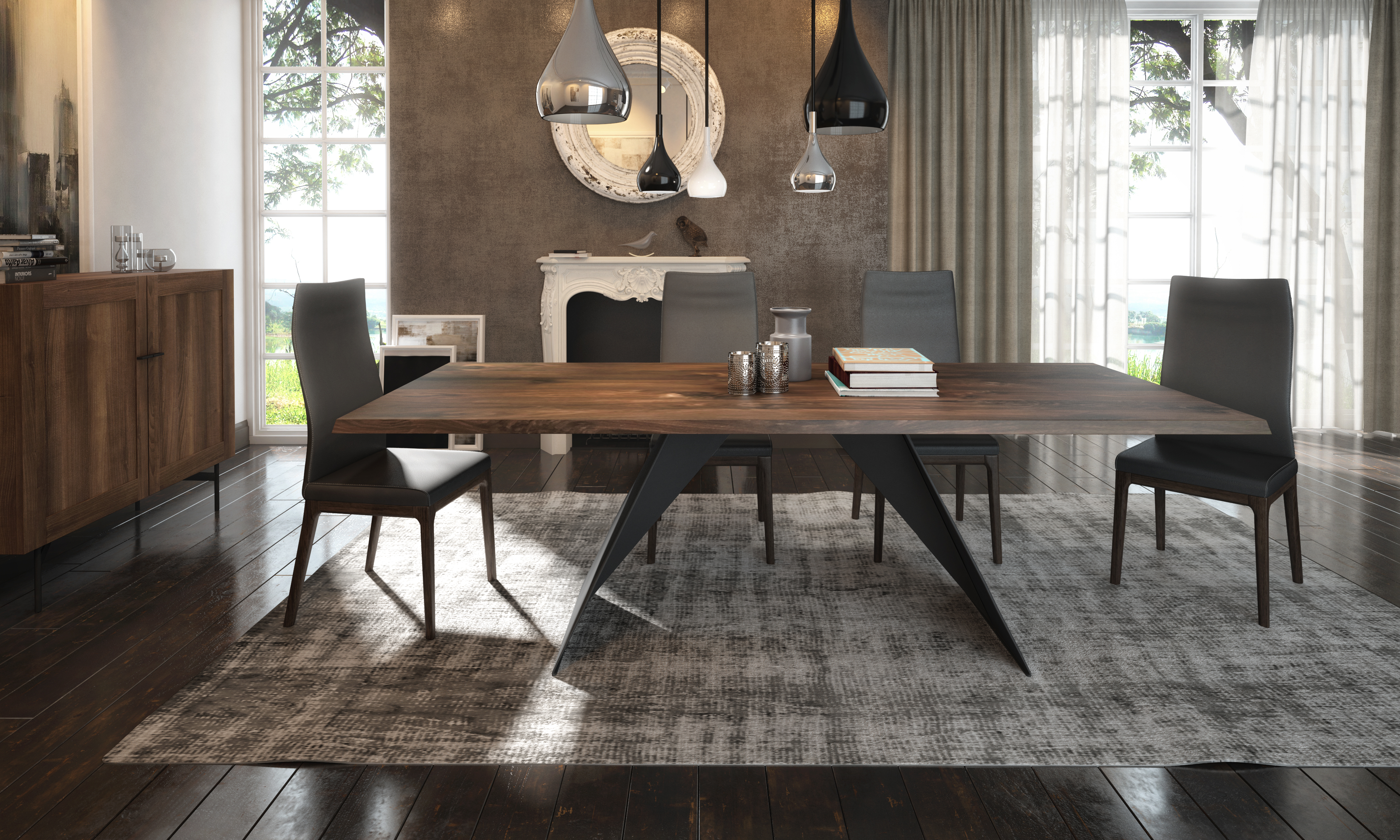 HUGO TABLE + AMY CHAIR + HARMONY