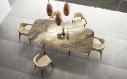 SAM Rafa Stone + Milan chair + orion lig