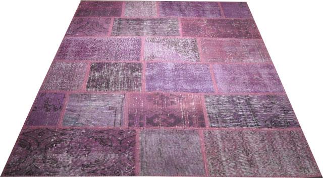 KILIM vintage patchwork mauve