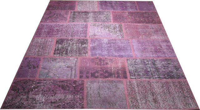 KILIM vintage patchwork purple