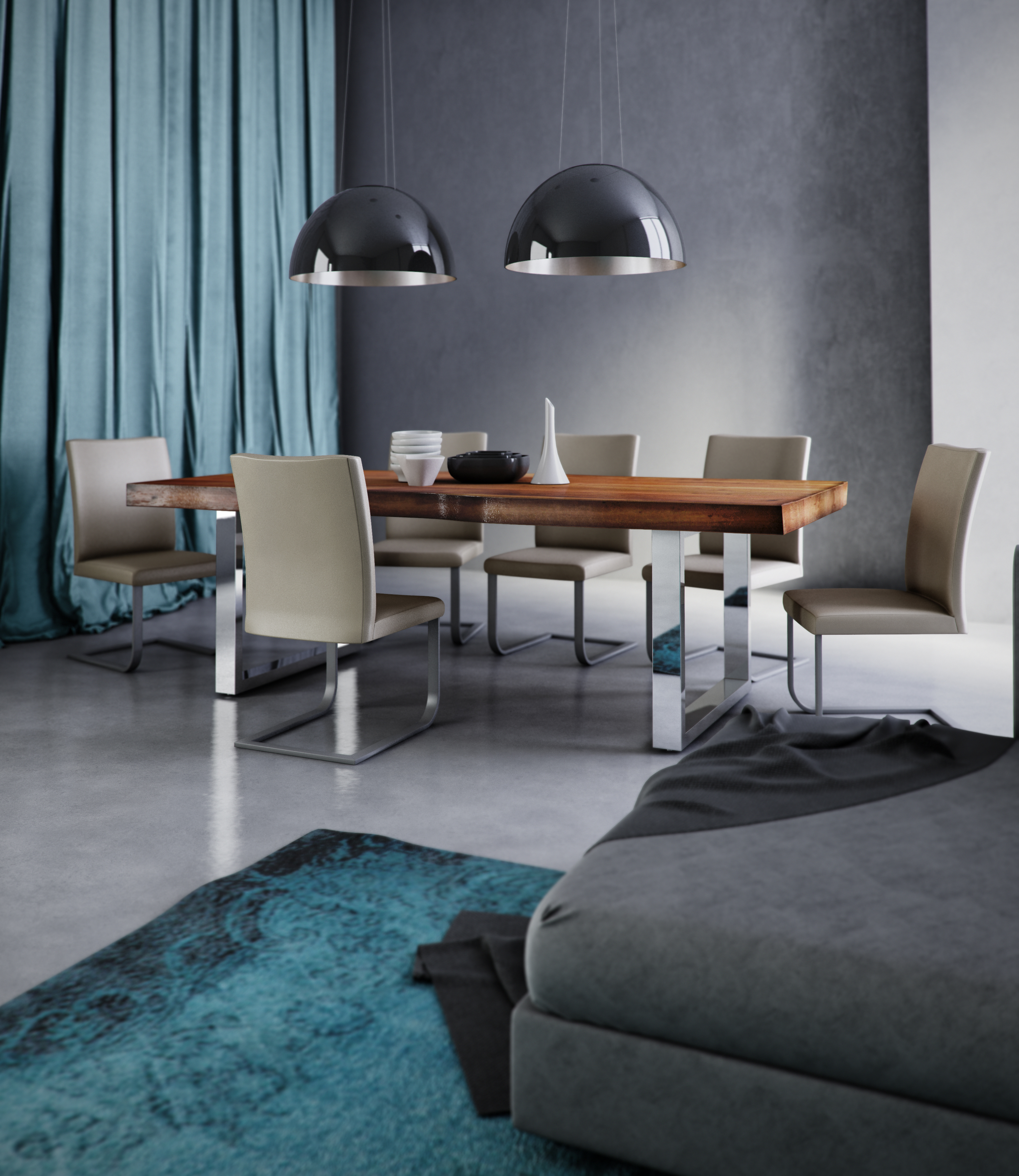 TABLE TOM+CHAISE LUANA