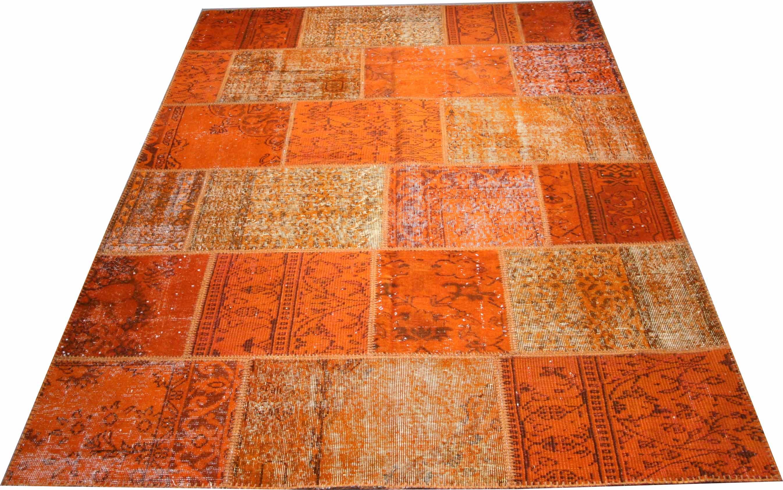 KILIM vintage patchwork orange