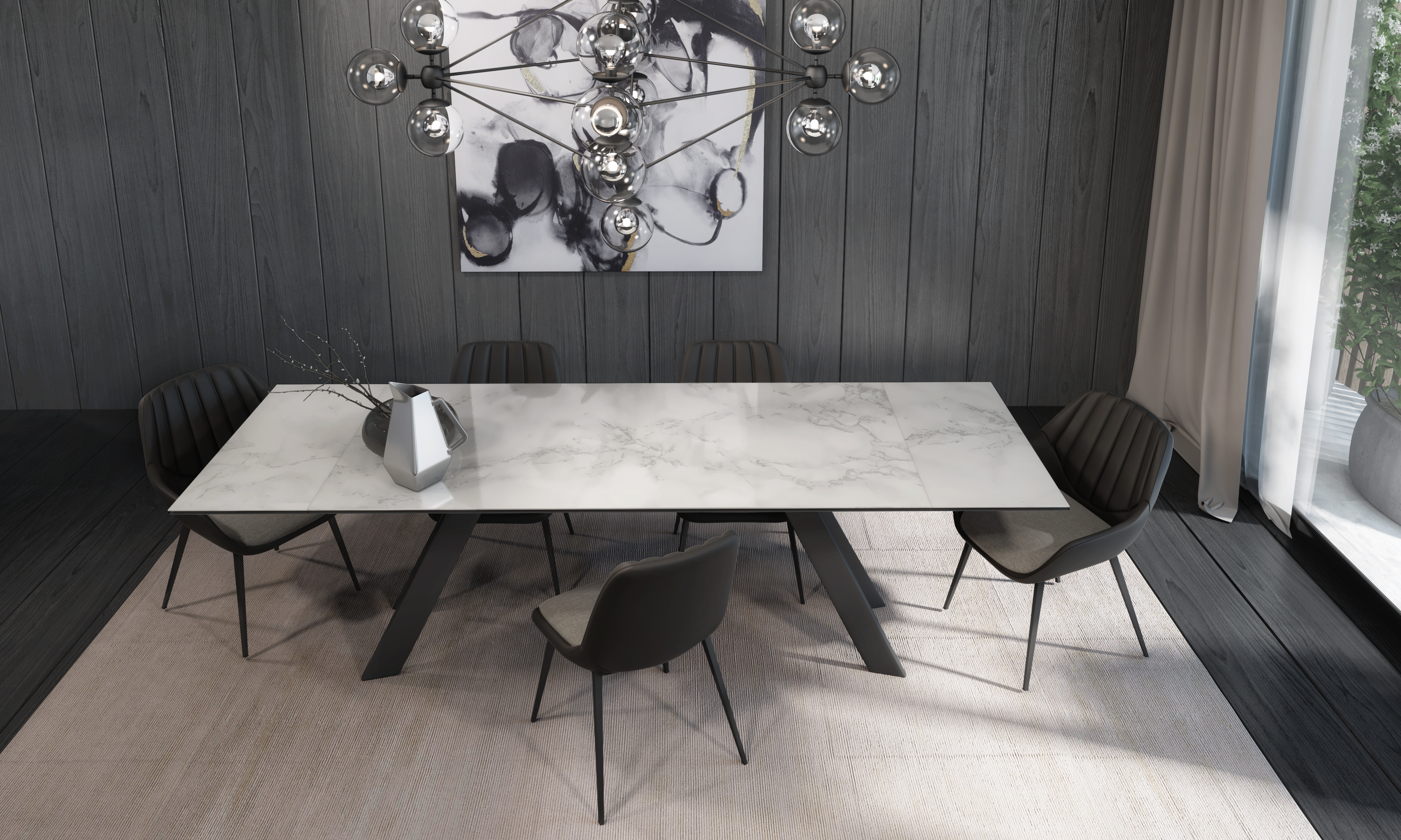 OLIVER TABLE + ELENA CHAIR