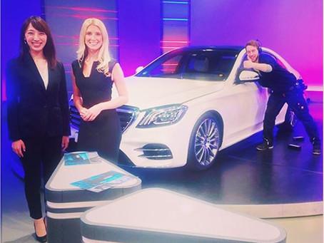 Dreharbeiten für Mercedes