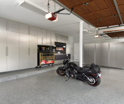 Reclaim Your Garage with Advanced Floor Coating Systems and Cabinetry