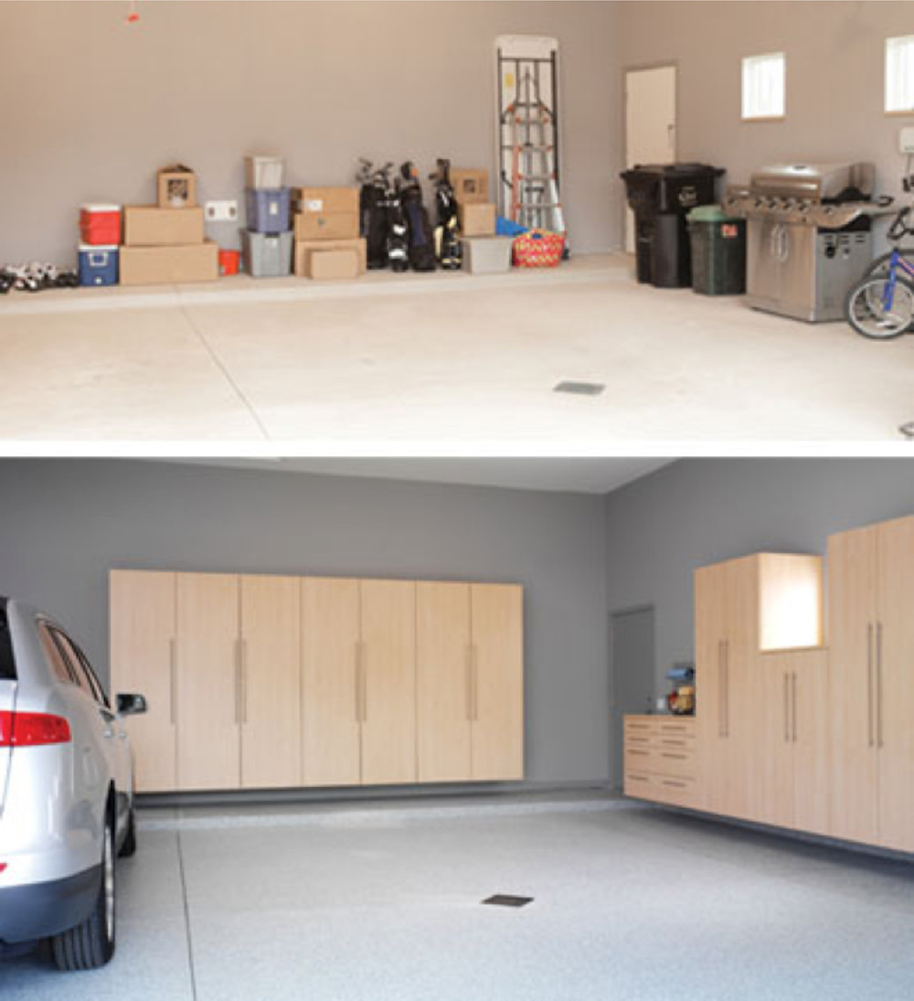Hanging Garage Storage Cabinets for your Cleveland, Akron, Canton, Hudson, Strongsville, Medina, Columbus, and Pittsburgh Garage.