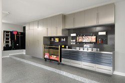 Platinum and Black Garage Cabinets 2