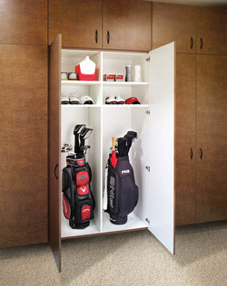 Garage Cabinets for Gold Clubs
