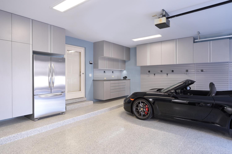 Canton, OH - Garage Cabinets & Floor