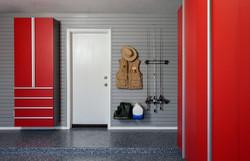 Red Garage Cabinets 3
