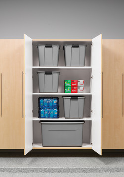 Hard Rock Maple Garage Cabinets 1