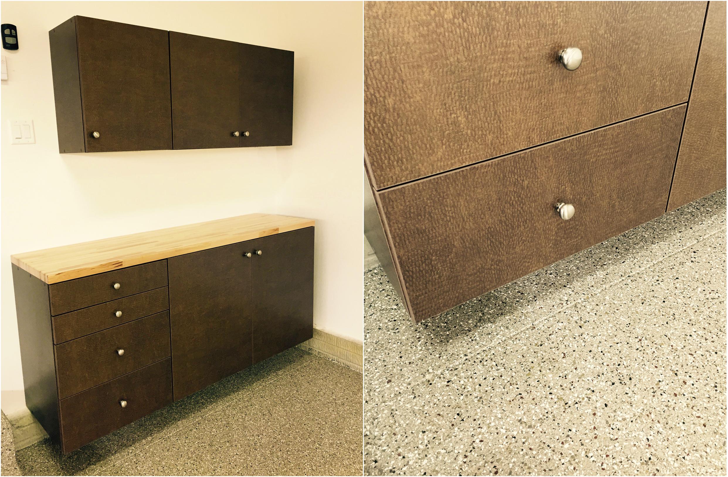 Hudson, OH - Garage Cabinets & Floor