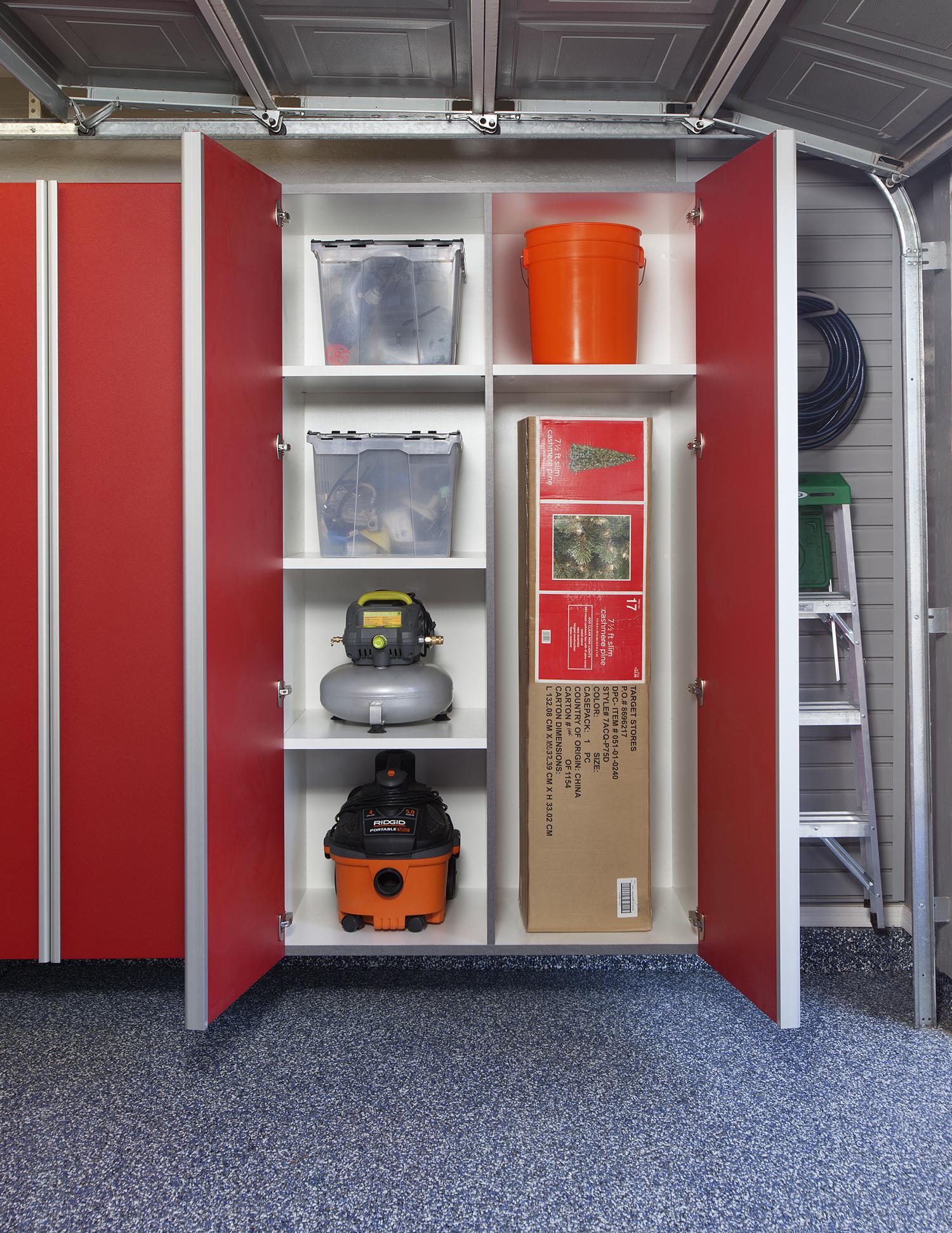 Red Garage Cabinets 1