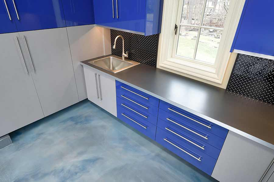 Silver_blue_Garage Cabinet Laminate_wood_3