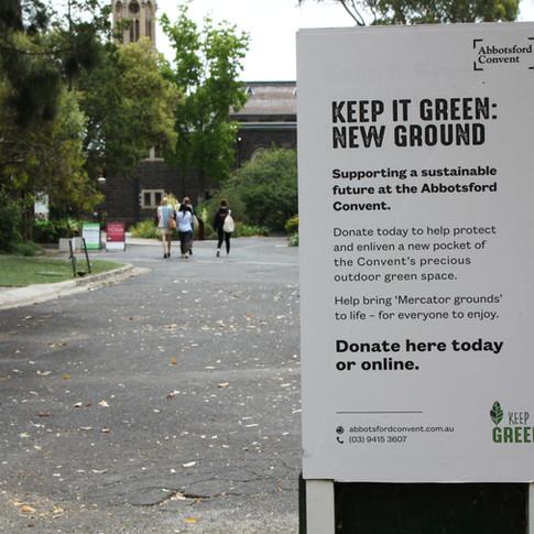 Keep it Green Signage Design