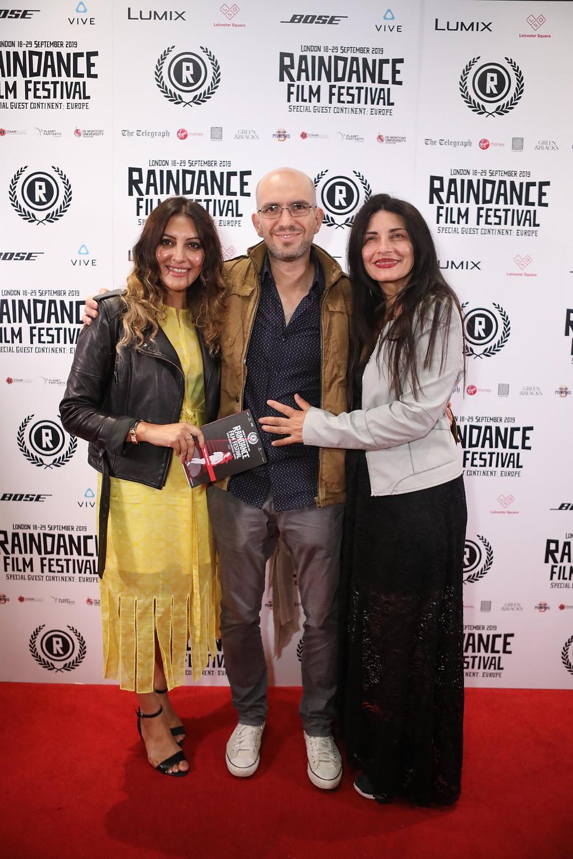 Saleem, Agelastos, Gouskou at Raindance film festival London 2019