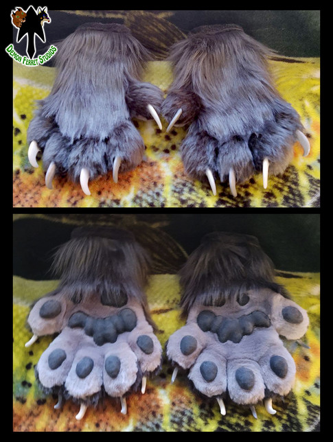 Crag the Wolverine Paws