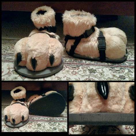 Rubber bottom sandals. *FEET NOT MADE BY ME*