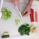 veggie soup mise en place