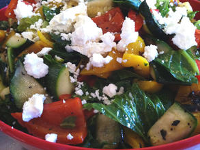 Grilled Summer Vegetables with Feta Cheese