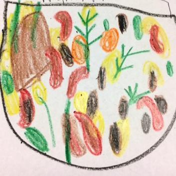 three bean veggie soup illustration