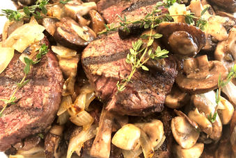 Grilled Filet with Assorted Mushrooms