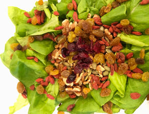 Butter Lettuce Salad with Dried Fruit and Nuts