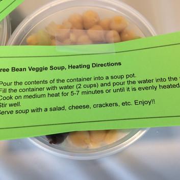 three bean veggie directions