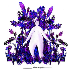 Ana Pi -Ilustración selva noche