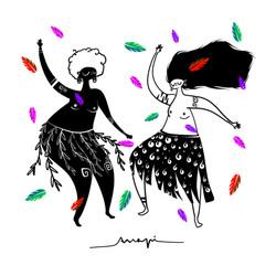 Ana Pi -Ilustración Pearl Primus