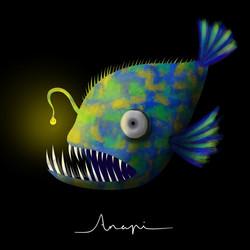 Ana Pi -Ilustración pez