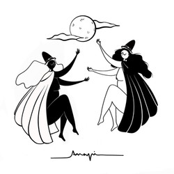 Ana Pi - Ilustración brujas