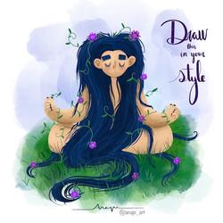 Ana Pi -Ilustración zen
