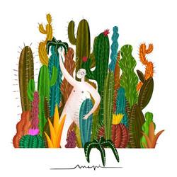 Ana Pi -Ilustración cactus