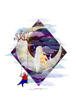 Ana Pi -Ilustración leyenda China