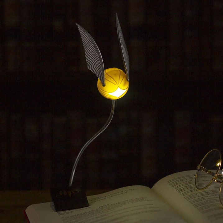 Golden Snitch Clip on Reading Light