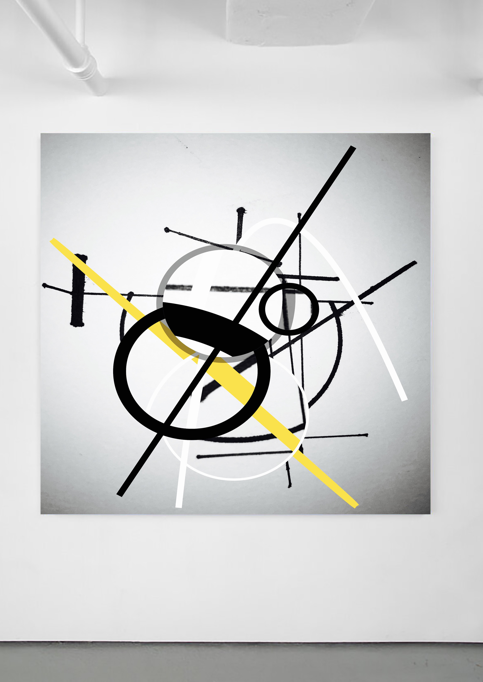 Abstract Yellow Lines