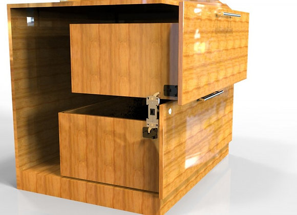 2-Drawer Anti-Tip Latch