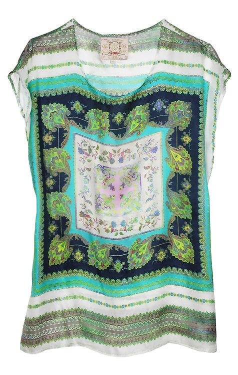 Loose Silk tunic top