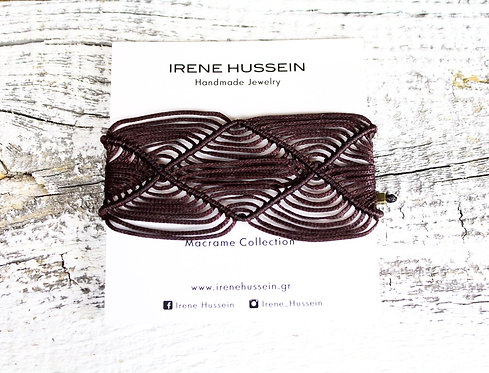 Brown macrame bracelet