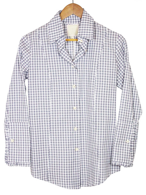 Grey Gingham Button Down