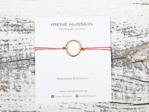Mini gold circle bracelet