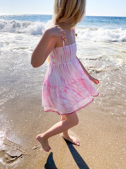 Tie Dyed Smocked Dress