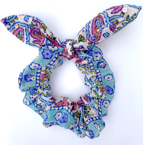 Beaded Scrunchie Bow